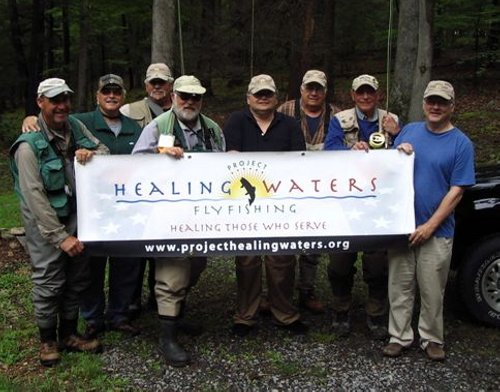 Dave McMullen & Joe Humphreys with Vets at Camp