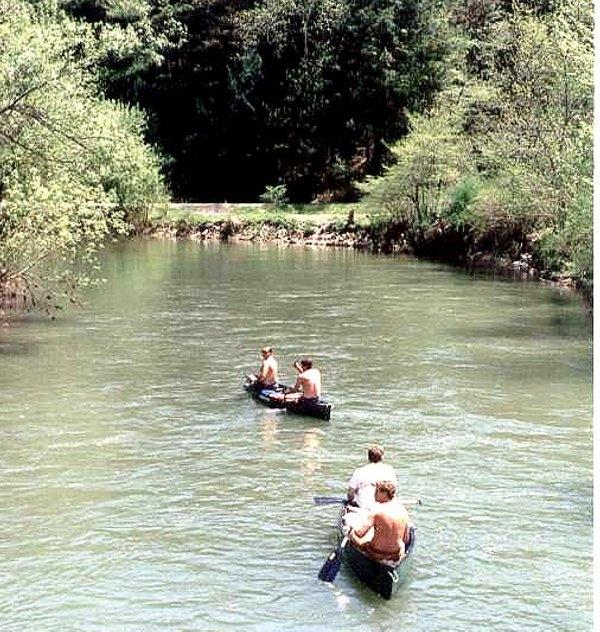 Miles upstream below Coburn