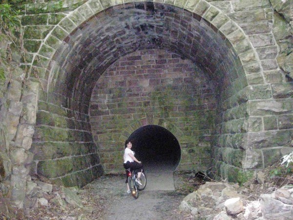 Old Railroad Tunnel 4 miles up RR Path