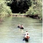 Canoeing below Trestle Bridge near Coburn