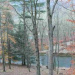 Downstream View of the Confluence of Penn's in Autumn below the Island